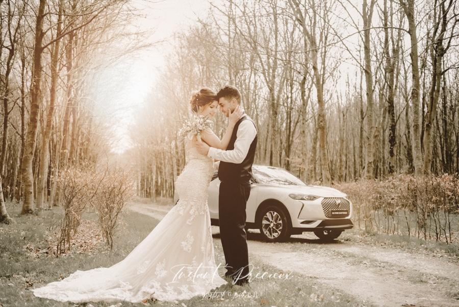 mariage dans un chateau style boheme