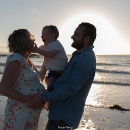 coucher de soleil en famille